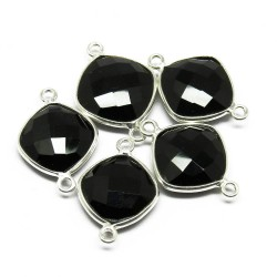 Colored Fashion Jewelry !! Black Onyx Silver Jewelry Connectors