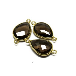 Amazing Gemstone !! Smoky Quartz 925 Silver Jewelry Connectors Gemstone Silver Jewelry