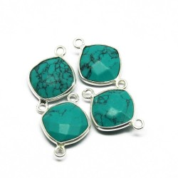 Attractive Silver Jewelry !! Turquoise 925 Sterling Silver Connectors