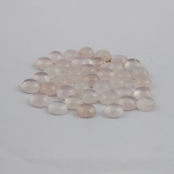 Attractive Rose Quartz Round Shape Cabochon Gemstone