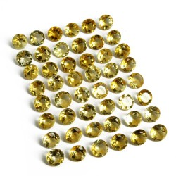 Attractive Gems !! Citrine Yellow Color Cut Stone Round Shape Gemstone