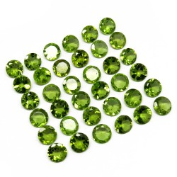 Natural Gemstone !! Cut Stone Peridot Green Color Gemstone Round Shape