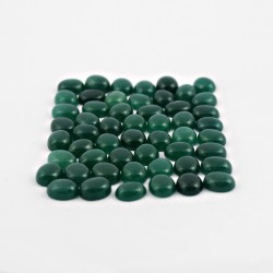 Natural Green Onyx Cabochon Oval Shape Gemstone