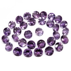 Great Quality !! Round Shape Amethyst Purple Color Gemstone