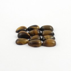 Stunning Tiger Eye Pear Shape Cabochon Gemstone