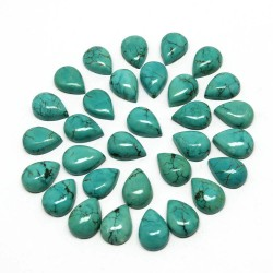 Unique Gemstone !! Turquoise Amazing Green Color Pear Shape Natural Gemstone