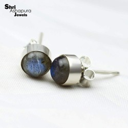 Most Amazing !! Labradorite 925 Sterling Silver Earring