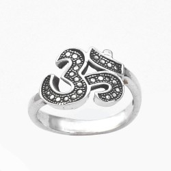 925 Sterling Solid Silver Ring Handmade Oxidized Silver Ring Indian Religious Jewellery