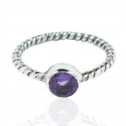 Amethyst Gemstone Ring Solid 925 Sterling Silver Handmade Promises Ring Manufacture Silver Ring Jewelry