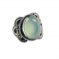 Aqua Chalcedony Ring 925 Sterling Silver Boho Ring Wholesale Silver Ring Jewelry Gift For Her