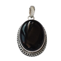 Black Onyx Pendant 925 Sterling Silver Handmade Pendant 925 Stamped Silver Jewelry