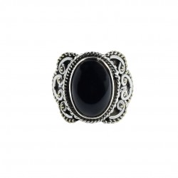 Black Onyx Ring Solid 925 Sterling Silver Ring Wholesale Silver Jewelry 925 Stamped Jewelry Gift For Her
