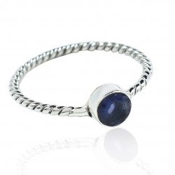 Blue Iolite Band Ring 925 Sterling Silver Wedding Ring Wholesale Silver Ring Jewelry