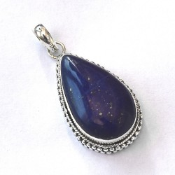 Blue Lapis Lazuli Pendant 925 Sterling Silver Handmade Silver Pendant Pear Shape Jewellery Gift For Her