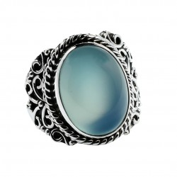 Chalcedony Ring Solid 925 Sterling Silver Ring Handmade Wholesale Silver Ring Jewelry Gift For Her