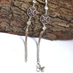 Cubic Zirconia Anklets 925 Sterling Silver Handmade Anklets Manufacture Silver Jewellery