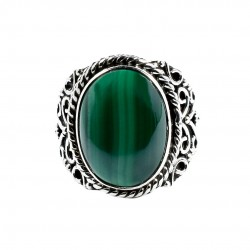 Green Malachite Ring Solid 925 Sterling Silver Boho Ring Manufacture Silver Ring Jewellery
