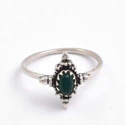 Green Onyx Ring Boho Ring Handmade 925 Sterling Silver Ring Oxidized Silver Ring Jewelry Gift For Her