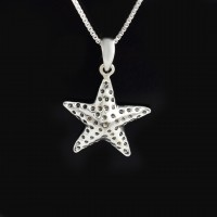 Handmade Solid 925 Sterling Silver Pendants Star Shape Boho Pendants Oxidized Silver Jewelry