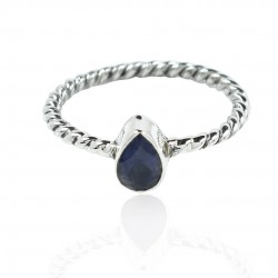 Iolite Ring Solid 925 Sterling Silver Ring Handmade Women Band Ring Jewelry Gift For Her