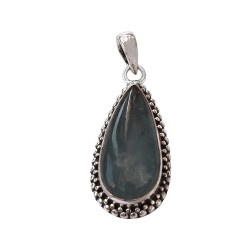 Natural Aquamarine Pendant 925 Sterling Silver Handmade Silver Pendant Jewelry Gift For Her