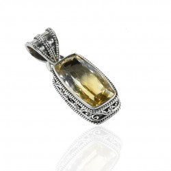Natural Citrine Gemstone Pendant Solid 925 Sterling Silver Handmade Pendant Jewelry Anniversary Gift For Her