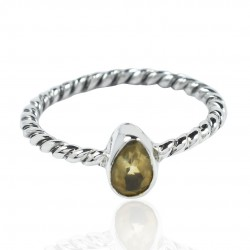 Natural Citrine Ring 925 Sterling Silver Ring Handmade Boho Wedding Band Ring Manufacture Silver Ring Jewelry