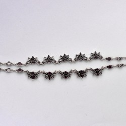 Natural Cubic Zirconia Gemstone Handmade 925 Sterling Silver Anklets Women And Girls Party Wear Jewelry