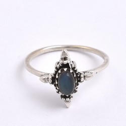 Natural Labradorite Ring 925 Sterling Silver Boho Ring Birthstone Ring Women Handcrafted Ring Jewelry