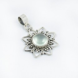 Natural Moonstone Pendants 925 Sterling Solid Silver Oxidized Silver Pendants Birthstone Jewelry