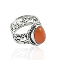 Natural Red Onyx Gemstone Ring Oval Shape Solid 925 Sterling Silver Ring Handmade Wholesale Silver Jewelry