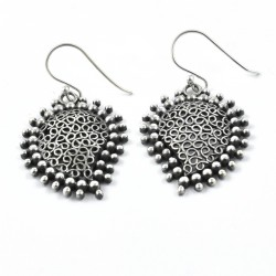 Oxidized 925 Sterling Plain Silver Drop Dangle Earring Women Handcrafted Silver Jewelry