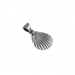 Oxidized Silver Shell Pendants Solid 925 Sterling Silver Handmade Wholesale Silver Jewellery