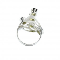 Peridot Gemstone Boho Ring Handmade Solid 925 Sterling Silver Ring 925 Stamped Silver Jewellery