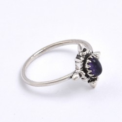 Purple Amethyst Ring 925 Sterling Silver Handmade Ring Boho Ring Birthstone Ring Jewelry Gift For Her