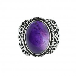 Purple Amethyst Ring Boho Ring Solid 925 Sterling Silver Ring Handmade 925 Stamped Ring Jewelry