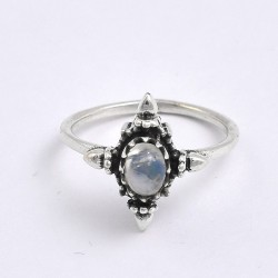 Rainbow Moonstone Ring 925 Sterling Silver Ring Handmade Silver Ring Birthstone Ring Jewelry