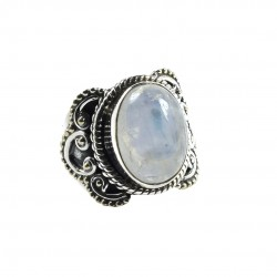 Rainbow Moonstone Ring Solid 925 Sterling Silver Ring Birthstone Jewelry Oxidized Silver Ring Jewelry