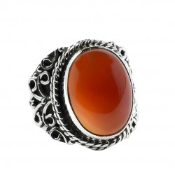 Red Onyx Gemstone Ring Handmade 925 Sterling Silver Birthstone Ring 925 Stamped Ring Jewelry