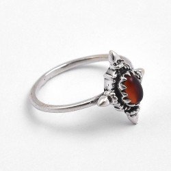 Red Onyx Ring Boho Ring 925 Sterling Silver Handmade Silver Ring Oxidized Silver Ring Jewellery