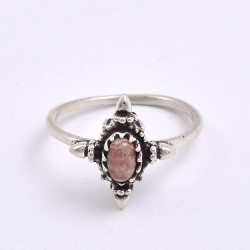 Rhodochrosite Ring 925 Sterling silver Handmade Silver Ring Boho Ring Jewelry Gift For Her
