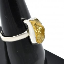 Rough Citrine Gemstone Ring 925 Sterling Silver Ring Wholesale Silver 925 Stamped Ring Jewellery