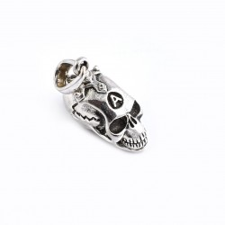 Skull Pendants 925 Sterling Solid Silver Pendants Handmade Oxidized Silver Pendants Jewelry