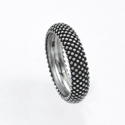Solid 925 Sterling Silver Band Ring Handmade Silver Boho Ring Oxidized Silver Ring Jewelry