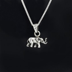 Solid 925 Sterling Silver Pendants Elephant Shape Oxidized Silver Pendants Bohemian Jewelry