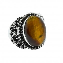 Tiger Eye Ring Solid 925 Sterling Silver Ring Handmade Boho Ring Wholesale Silver Ring Jewelry Gift For Her