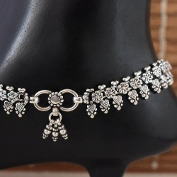 Attractive !! Handmade Plain Silver 925 Sterling Silver Anklet