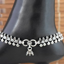 Ladies Desginer Plain Silver 925 Sterling Silver Anklet