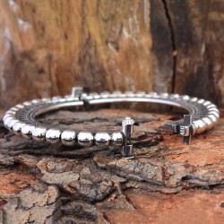 Tribal Rajasthani Boho Style 925 Sterling Silver Cuff Bracelet