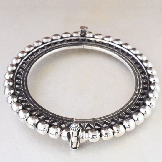 Rajasthani! Boho Tribal  Style 925 Sterling Silver Cuff Bracelet